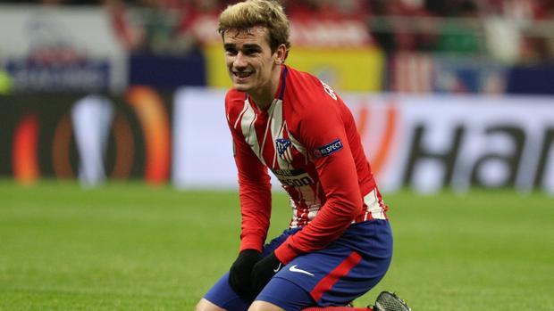 Griezmann durante un partido con el Atlético de Madrid