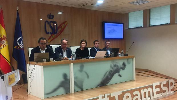 González Devesa, Javier Sanz, Julia Casanueva, Javier Torres y José Martínez