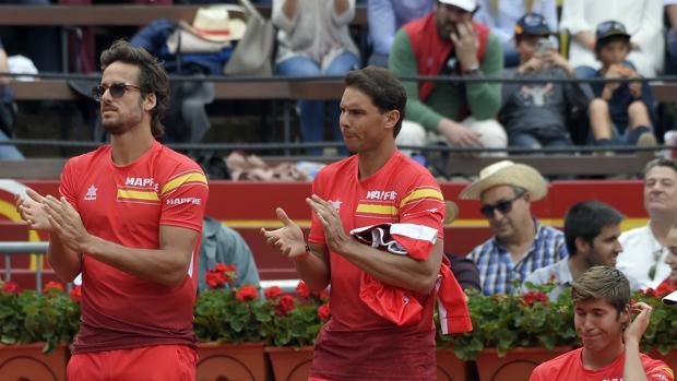 Feliciano López y Nadal apoyan a Ferrer en el quinto partido de la Davis