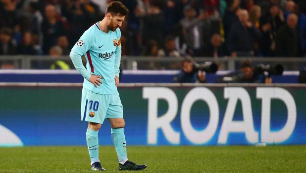 Leo Messi, decepcionado tras la eliminación del Barcelona