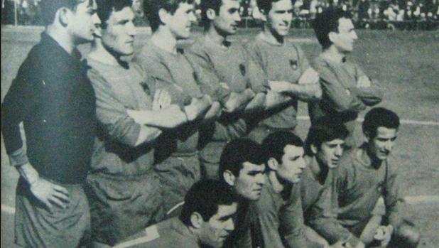 Una formación del CD Orense en la temporada 1967-68