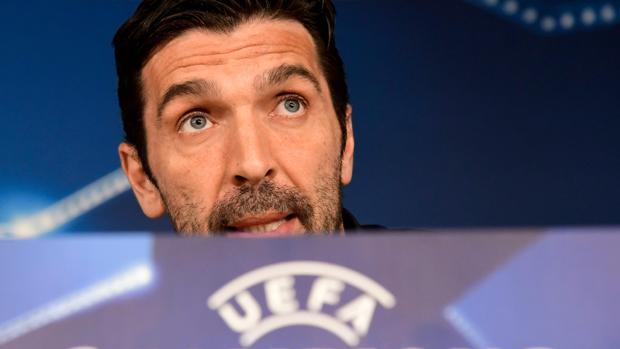 Ginaluigi Buffon, en la sala de prensa del Santiago Bernabéu
