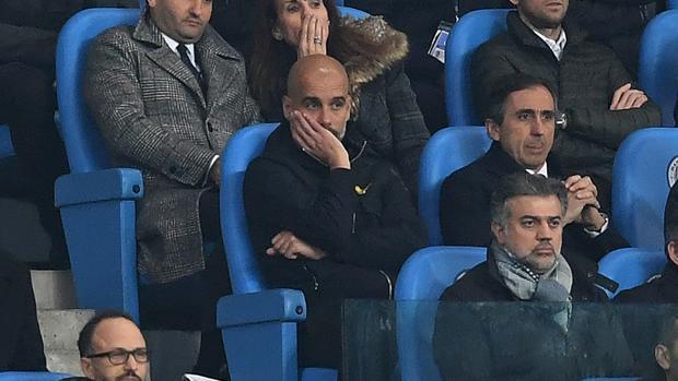 Pep Guardiola, expulsado en el partido del City frente al Liverpool