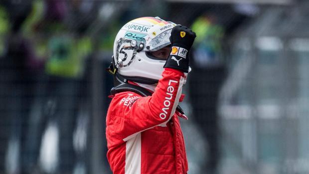 Sebastian Vettel, tras lograr la pole en la clasificación del GP de China