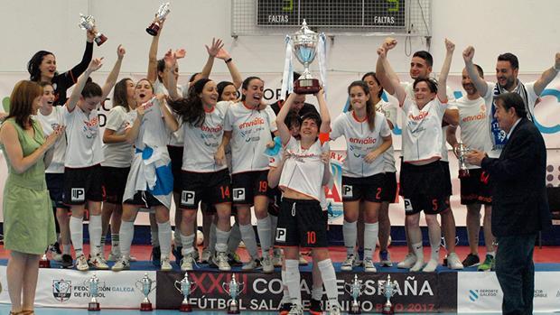 El Ourense ganaba la Copa de España de Fútbol Sala femenino en 2017.