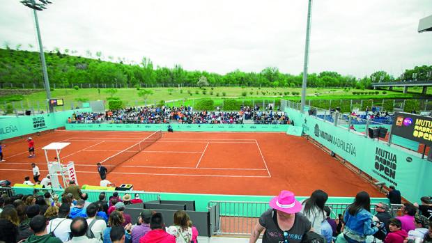 Una de las pistas de entrenamiento de la Caja Mágica durante el Mutua Madrid Open