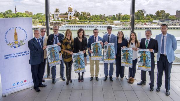 Presentación de la Copa Comen, en las instalaciones deportivas del Círculo Mercantil e Industrial de Sevilla