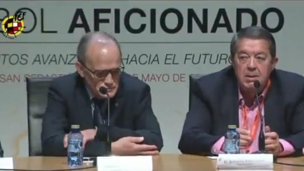 Marcelino Maté, a la izquierda, junto a Antonio Escribano