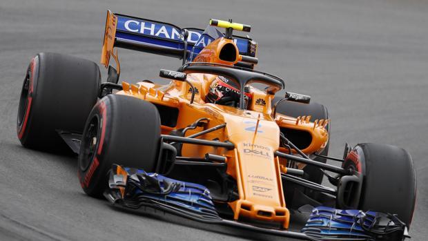 Fernando Alonso durante la clasificación de Montmeló
