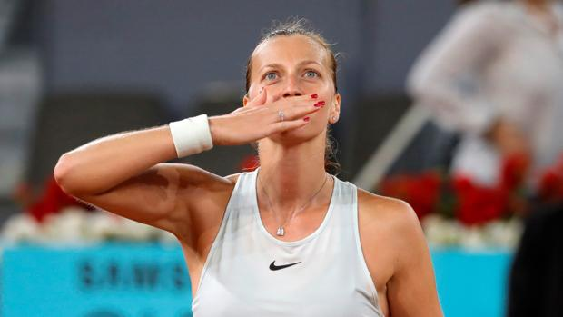 Kvitova celebra su triunfo ante Pliskova