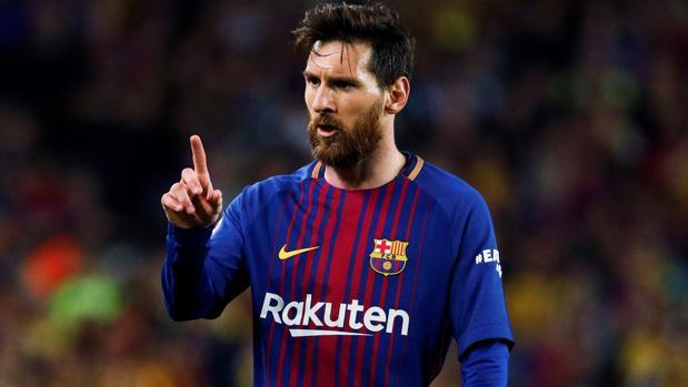 Leo Messi durante un partido del Barcelona