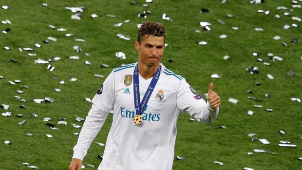 Cristiano Ronaldo tras la final de la Champions League contra el Liverpool
