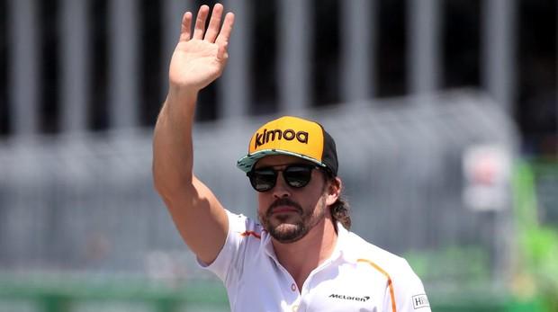 Fernando Alonso, durante el Gran Premio de Canadá