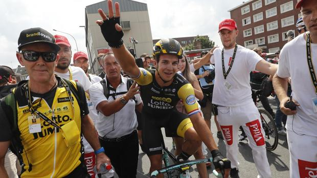 Dylan Groenewegen , ganador de la octava etapa del Tour de Francia
