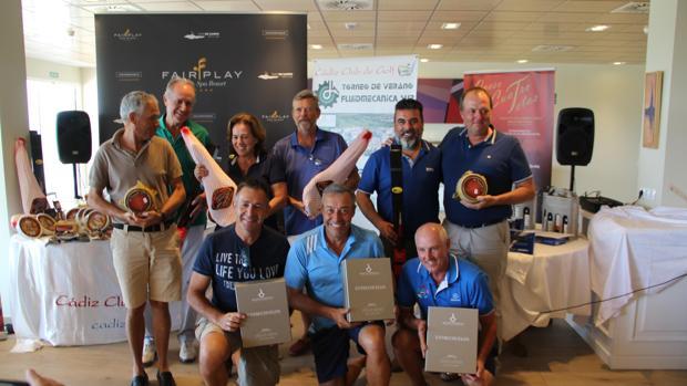 Los ganadores en la entrega de premios