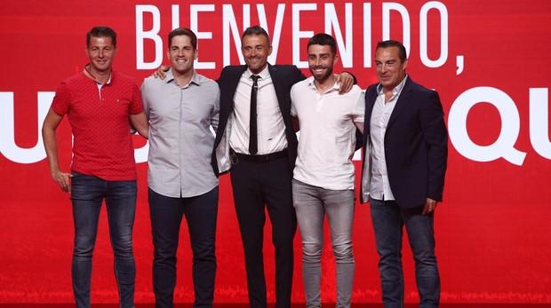 Presentación del nuevo cuerpo técnico de la selección española.