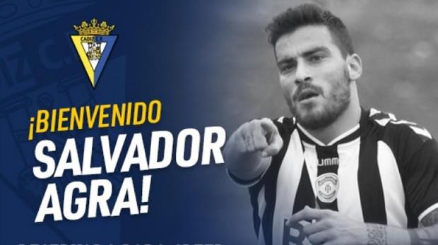 Salvador Agra, nuevo fichaje del Cádiz CF.