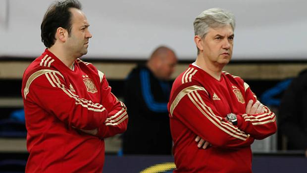 Fede Vidal y José Venancio López con la selección