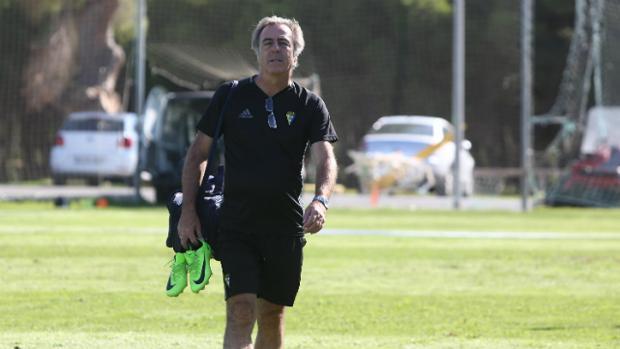 Nono Fernández en un entrenamiento