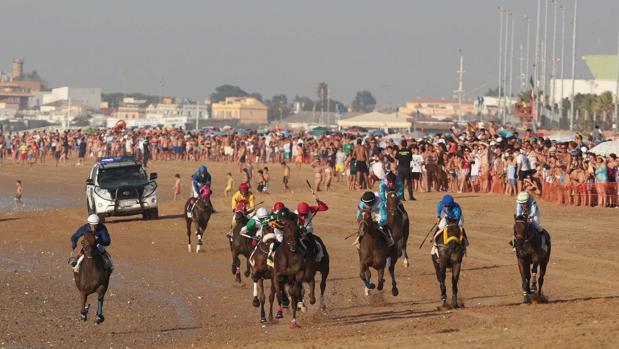 Participantes en las playas de Sanlúcar de Barrameda