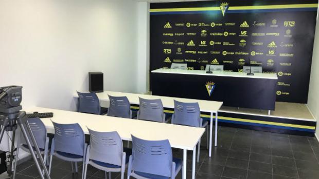 Imagen de la nueva sala de prensa de El Rosal
