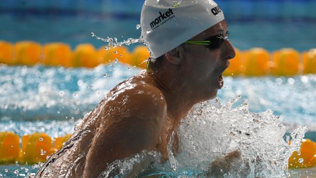 Pons, durante la competición