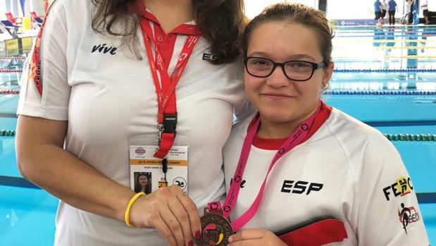 Aitana Estrada durante los Paraworld Games 2018 en Sant Cugat, Barcelona