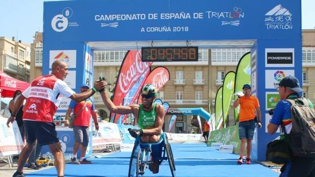 Jose Manuel Quintero en el Campeonato de España de Triatlón