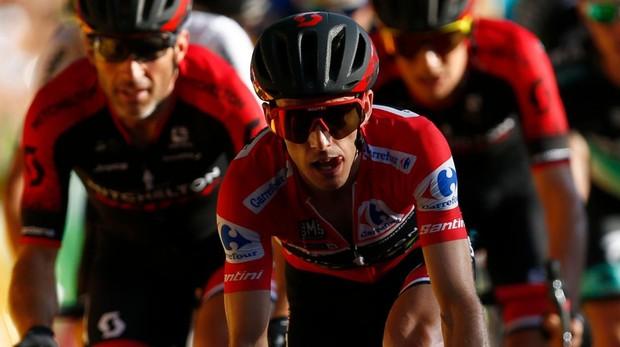 Simon Yates, en la última etapa de la Vuelta a España