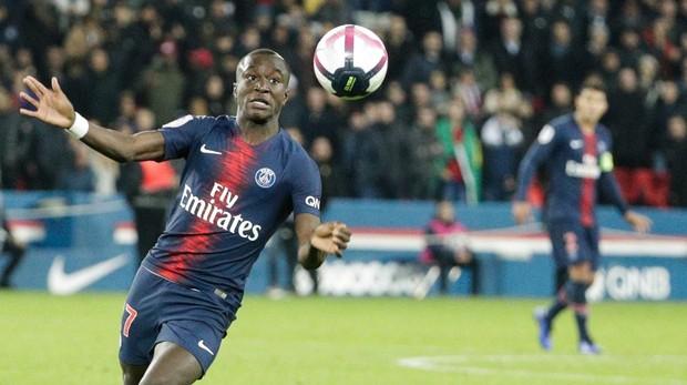 El futbolista del PSG Moussa Diaby