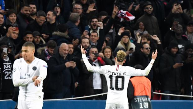 Neymar, en el choque de Champions ante el Liverpool