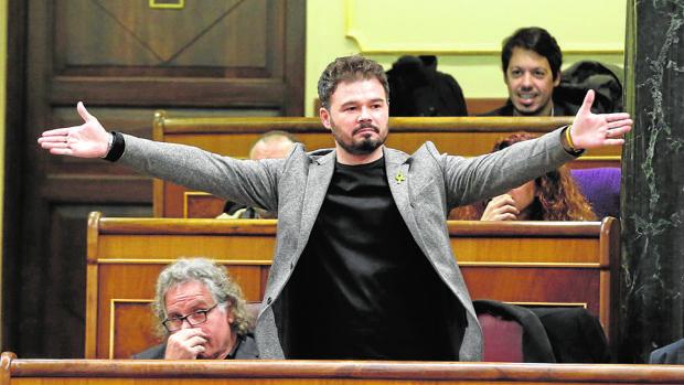 Gabriel Rufián, diputado por ERC en el Congreso.