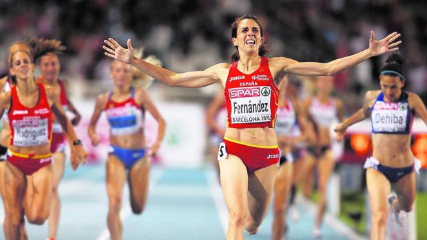 Nuria Fernández logra el oro europeo en 1.500 en Barcelona (2010)