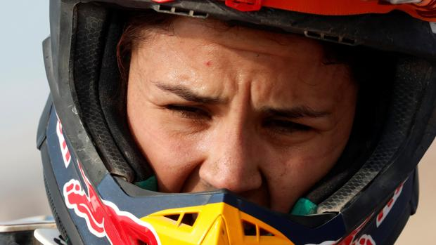 Laia Sanz, piloto española que ha competido en el Dakar