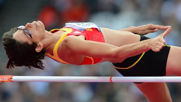 Ruth Beitia, durante los Juegos de Londres 2012