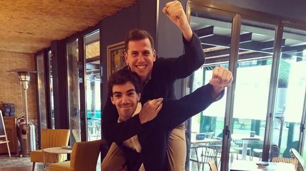 Navarro y Lebrón cuando anunciaron que formaban dupla.
