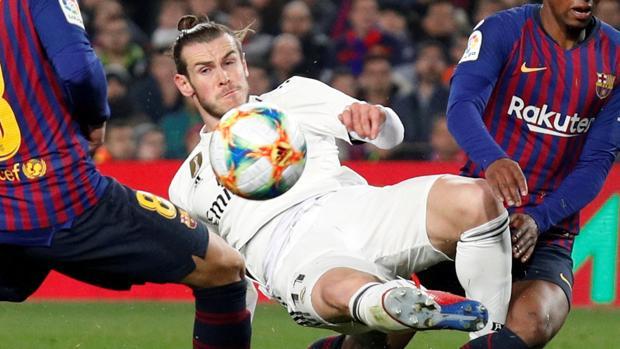 Bale dirante la primera vuelta de la semifinal de la Copa del Rey