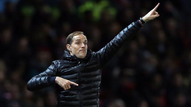 Thomas Tuchel, durante el partido de Champions League frente al Manchester United