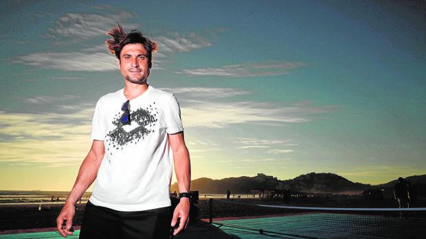 David Ferrer, en la playa de Acapulco del hotel Princess Mundo Imperial