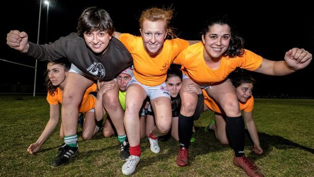 Jugadoras del club de rugby Toledo