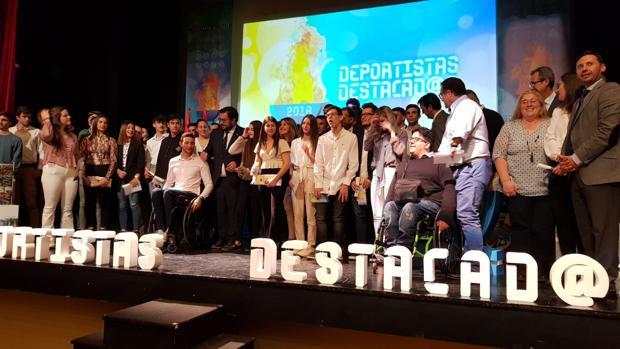 Los deportistas destacados de Cádiz celebran la gala anual de Diputación en Tarifa.