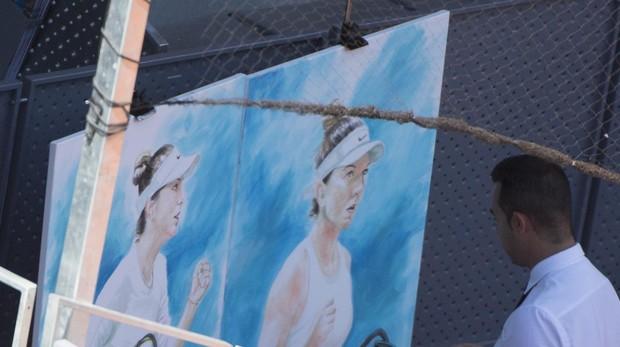 El pintor Víctor Jerez durante la semifinal