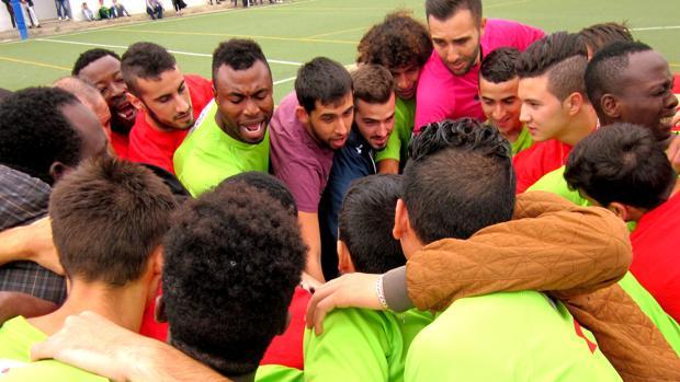 Los jugadores del Alma de África durante un encuentro.