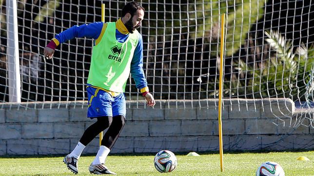 Andrés Sánchez, jugador del Cádiz CF, en un entrenamiento