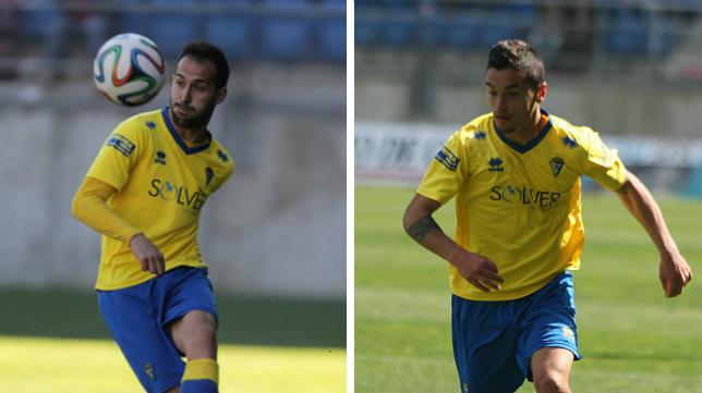 Andrés y Tomás Sánchez pelean por un puesto en la banda izquierda del Cádiz CF