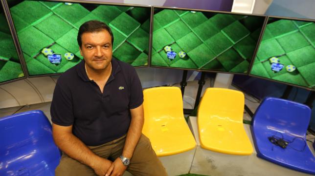 Fernando Arévalo, presidente de la Federación de Peñas del Cádiz CF