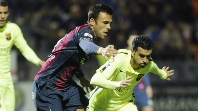 El Huesca se enfrentó al Barcelona en la Copa del Rey.