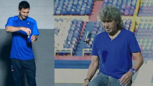 Messi y Mágico González, dos astros del fútbol mundial