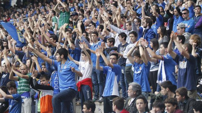 La afición del Real Oviedo ya se prepara para recibir al Cádiz CF.