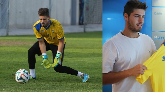 Ricky Alonso, portero del Cádiz CF